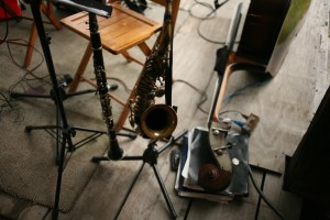 Metropolitan Klezmer instruments at wedding still life