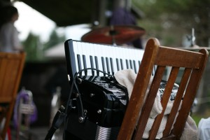 Metropolitan Klezmer accordion at wedding reception still life